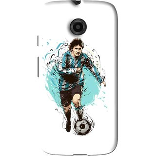 Snooky Printed Have To Win Mobile Back Cover For Moto E - White