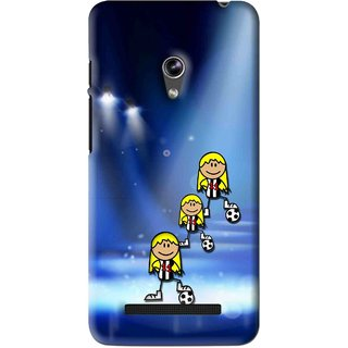 Snooky Printed Girls On Top Mobile Back Cover For Asus Zenfone 5 - Blue