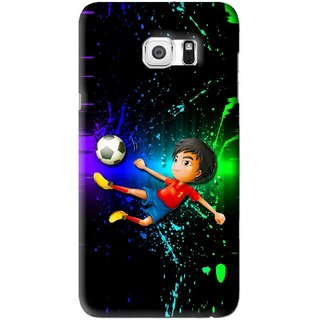 Snooky Printed High Kick Mobile Back Cover For Samsung Galaxy S6 Edge Plus - Multi