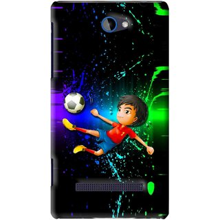 Snooky Printed High Kick Mobile Back Cover For HTC 8S - Multi
