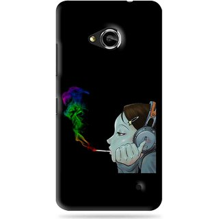 Snooky Printed Color Of Smoke Mobile Back Cover For Microsoft Lumia 550 - Black