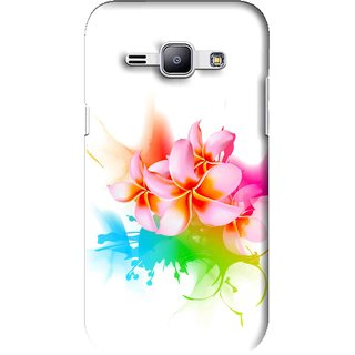 Snooky Printed Colorfull Flowers Mobile Back Cover For Samsung Galaxy J1 - Multi