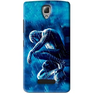 Snooky Printed Blue Hero Mobile Back Cover For Lenovo A2010 - Blue