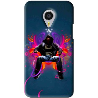 Snooky Printed Live In Attitude Mobile Back Cover For Meizu MX4 Pro - Blue