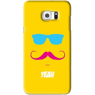 Snooky Printed Yeah Mobile Back Cover For Samsung Galaxy S6 Edge Plus - Yellow