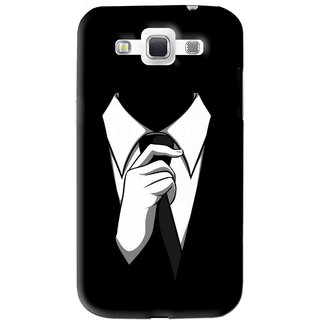 Snooky Printed White Collar Mobile Back Cover For Samsung Galaxy 8552 - Black