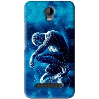 Snooky Printed Blue Hero Mobile Back Cover For Micromax Bolt Q335 - Blue
