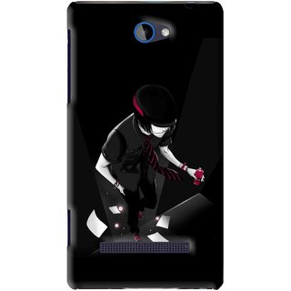 Snooky Printed Hep Boy Mobile Back Cover For HTC 8S - Black