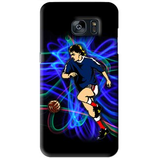Snooky Printed Football Passion Mobile Back Cover For Samsung Galaxy S7 - Black