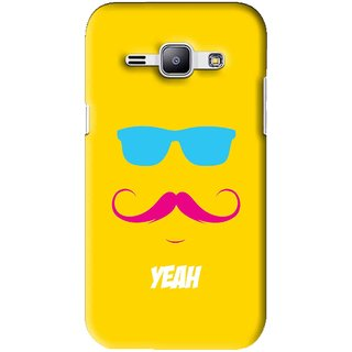 Snooky Printed Yeah Mobile Back Cover For Samsung Galaxy J1 - Yellow