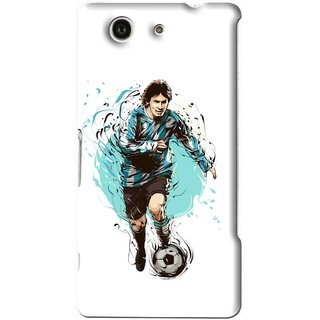 Snooky Printed Have To Win Mobile Back Cover For Sony Z3 Mini - White