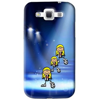Snooky Printed Girls On Top Mobile Back Cover For Samsung Galaxy 8552 - Blue