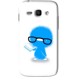 Snooky Printed My Teacher Mobile Back Cover For Samsung Galaxy Ace 3 - White