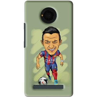 Snooky Printed Hara ke Dikha Mobile Back Cover For Micromax Yu Yunique - Green