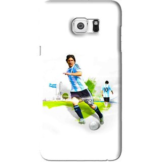 Snooky Printed Football Mania Mobile Back Cover For Samsung Galaxy Note 5 Edge - White
