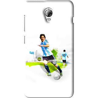 Snooky Printed Football Mania Mobile Back Cover For Lenovo Vibe P1 - White