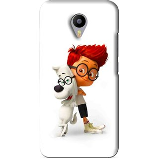 Snooky Printed My Friend Mobile Back Cover For Meizu M1 Note - White
