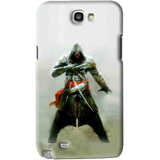 Snooky Printed The Thor Mobile Back Cover For Samsung Galaxy Note 2 - Green