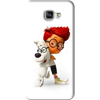 Snooky Printed My Friend Mobile Back Cover For Samsung Galaxy A7 2016 - White