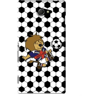 Snooky Printed Football Cup Mobile Back Cover For Sony Xperia M2 - Multi
