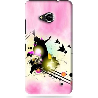 Snooky Printed Flying Man Mobile Back Cover For Microsoft Lumia 550 - Pink