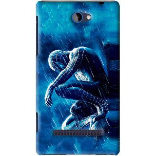 Snooky Printed Blue Hero Mobile Back Cover For HTC 8S - Blue