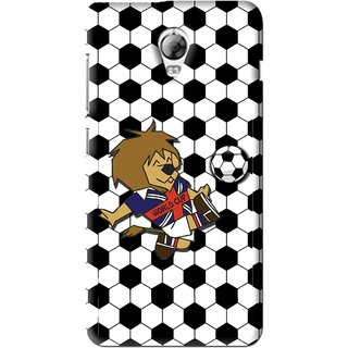 Snooky Printed Football Cup Mobile Back Cover For Lenovo Vibe P1 - Multi