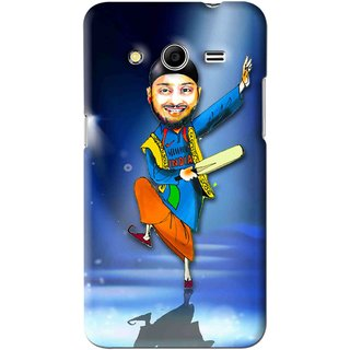 Snooky Printed Balle balle Mobile Back Cover For Samsung Galaxy Core 2 - Blue
