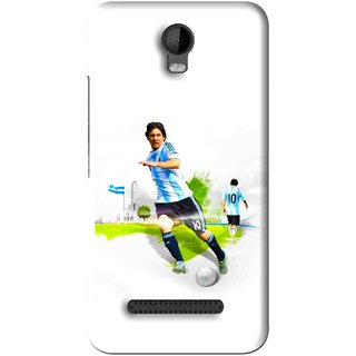 Snooky Printed Football Mania Mobile Back Cover For Micromax Bolt Q335 - White
