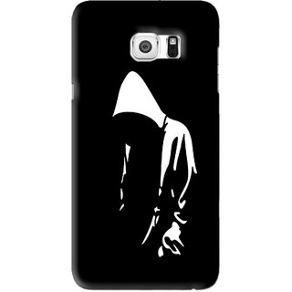 Snooky Printed Thinking Man Mobile Back Cover For Samsung Galaxy S6 Edge Plus - Black