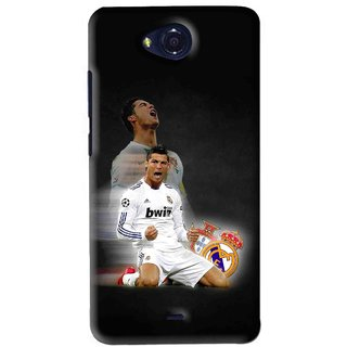 Snooky Printed Football Champion Mobile Back Cover For Micromax Canvas Play - Black