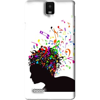 Snooky Printed Music Lover Mobile Back Cover For Infocus M330 - White