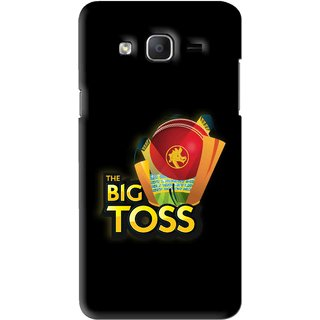 Snooky Printed Big Toss Mobile Back Cover For Samsung Galaxy On7 - Black