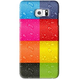 Snooky Printed Water Droplets Mobile Back Cover For Samsung Galaxy S6 Edge Plus - Multi
