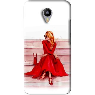 Snooky Printed Attitude Girl Mobile Back Cover For Meizu M1 Note