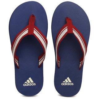 Adidas Men Red and Blue Adze Flip Flops