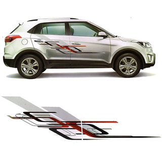 1 Set Graphics 2 Side Decal Body Sticker universal for Creta Brezza Ecosport