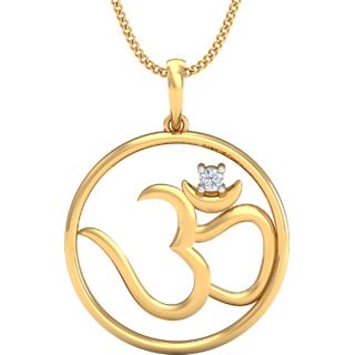 Rajas Om Diamond Pendant