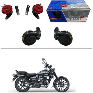 AutoStark Thai Bike Horn Set of 2 60B Electric Shell Horn For Bajaj Avenger 150 Street