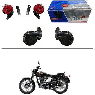 AutoStark Thai Bike Horn Set of 2 60B Electric Shell Horn For Bajaj Avenger 220 Cruise