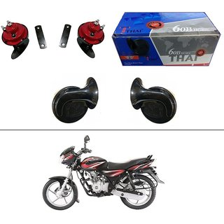 AutoStark Thai Bike Horn Set of 2 60B Electric Shell Horn For Bajaj Discover 100 DTS-i