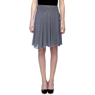Tara Lifestyle stretchable Designer Plain Lycra Casual Wear Circle Skirts with lining For Women's - Free Size(W-26-34)