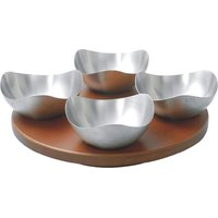 Magpie Designer , Set Of 4 Bowls With Wooden Tray Model 114 Limited Period Offer Till Stocks Last