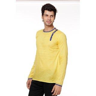 FBBIC Yellow Short Kurta For Men
