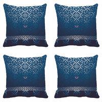 MeSleep Blue Pattern Digitally Printed Cushion Covers