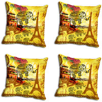 MeSleep Yellow Elephant Digitally Printed Cushion Covers