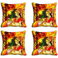 MeSleep Multi Lady Digitally Printed Cushion Covers