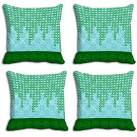 MeSleep Green Abstract Digitally Printed Cushion Covers