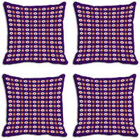MeSleep Purple Abstract Digitally Printed Cushion Covers