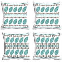 MeSleep Blue Abstract Digitally Printed Cushion Covers